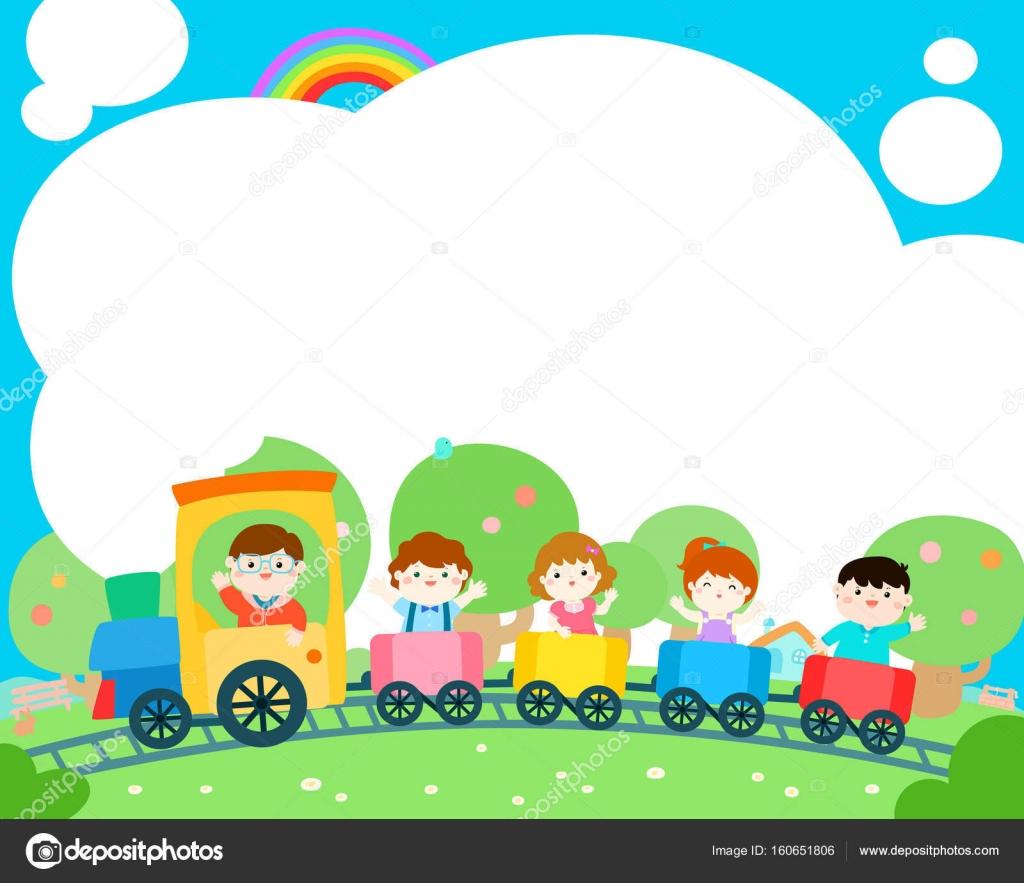 Vector de diseño de plantilla en blanco niño feliz cartel — Vector ...