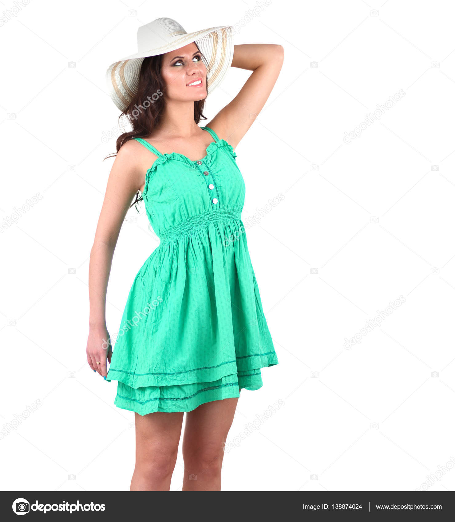 43fd9ce5342 mannequin habillée d une robe verte