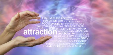 The Law of Attraction Word Cloud