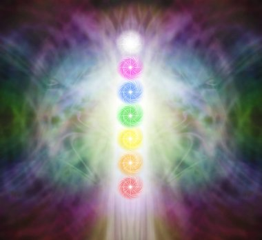 The Seven Chakra Vortexes in a Pranic Energy Field