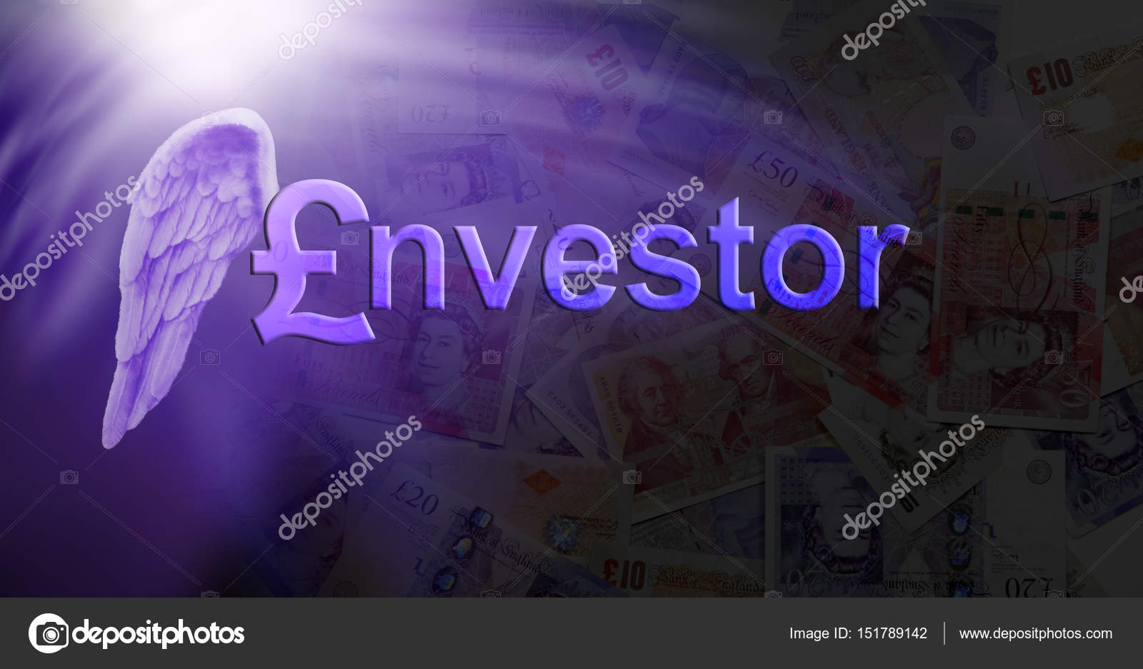 Cancelletto In Inglese : Angel investor sterlina inglese u foto stock healing