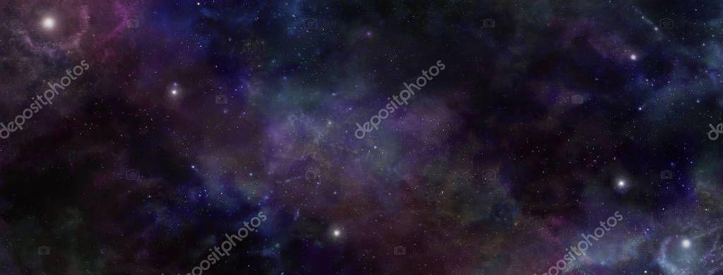 Dark Night Sky Deep Space background