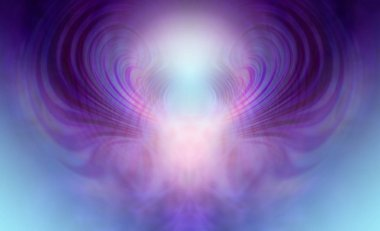 Supernatural Ethereal Being Background - Blue and purple light form depicting supernatural being
