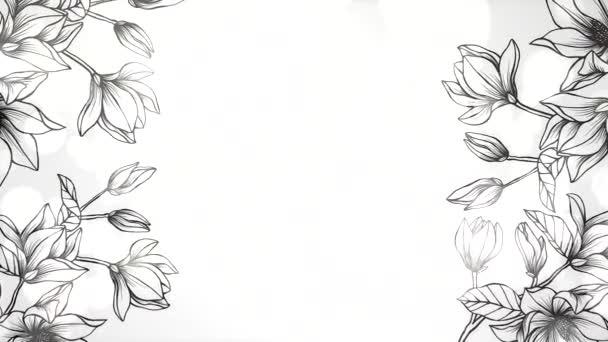 detailní květiny pohyb svatební pozadí elegantní a luxusní pastelový styl animace záběry