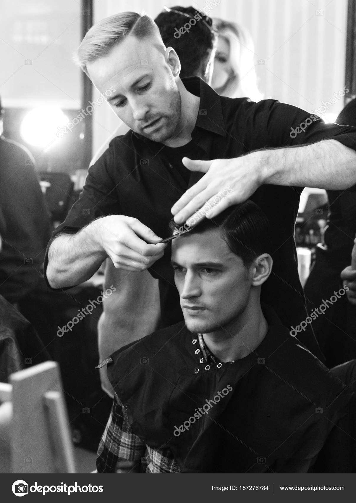 73f9402ca5 Joseph Abboud - Men Spring Summer 2017 Collection - Backstage — Stock Photo