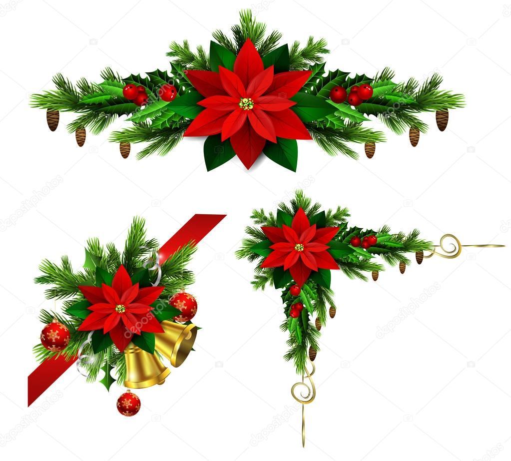 Disegni Di Natale Vettoriali.Elementi Di Natale Per I Vostri Disegni Vettoriali Stock