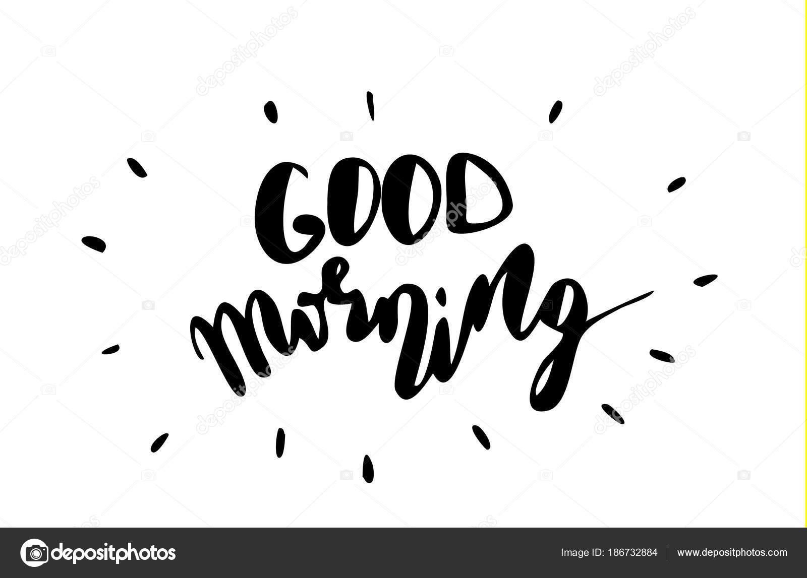 Guten Morgen Inspirierende Angebot Stockvektor Bastinda18