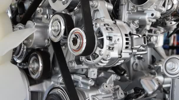 Autó motor közelkép, része az autó-motor