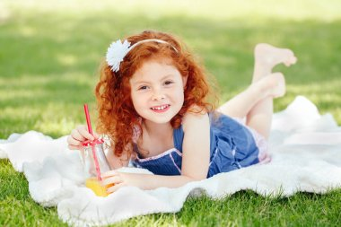 red-haired Caucasian girl