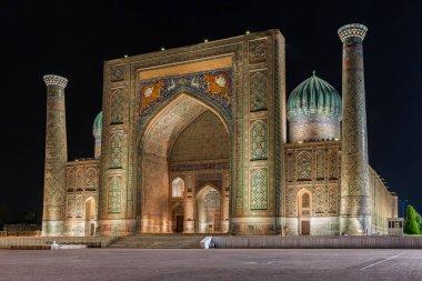 View of Sher-Dor Madrasah in Samarkand, Uzbekistan