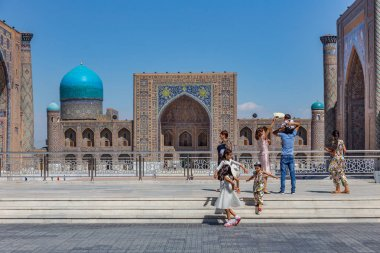 The Registan in Samarkand, Uzbekistan