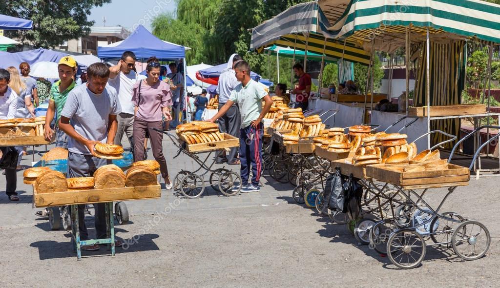 поставить хлеб на базаре в узбекистане фото радиодеталей абсолютно