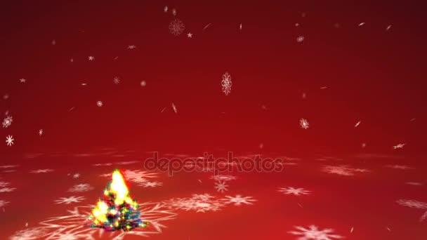 Groeiende kerstboom met surrealistische plasma verlichting en ...