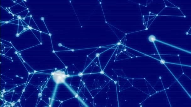 Závada futuristické technologie molekulární abstraktní Plexus pozadí. 60 snímků za sekundu.