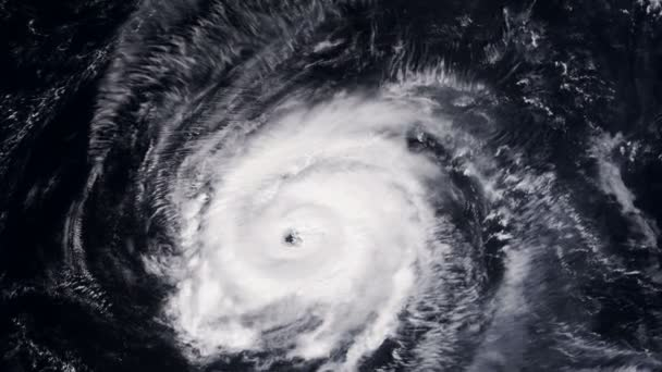 Hurrikan Sturm Tornado über die Erde aus dem Weltraum, Satelliten-Ansicht.