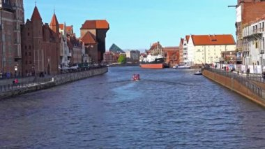 GDANSK, POLAND - May 07 2017: Gdansk Old Town and Motlawa River.