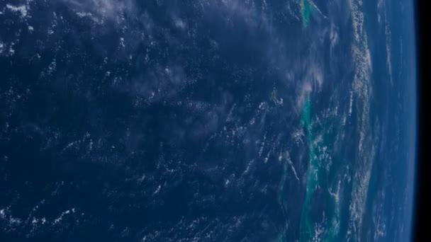 Planeta země z Iss. Prvky tohoto videa, které Nasa