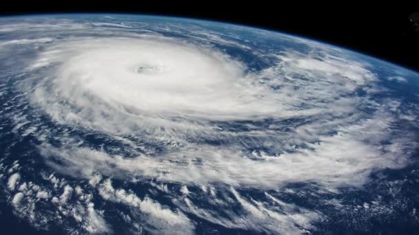 Der Hurrikan Sturm in den Ozean, Satelliten-Ansicht
