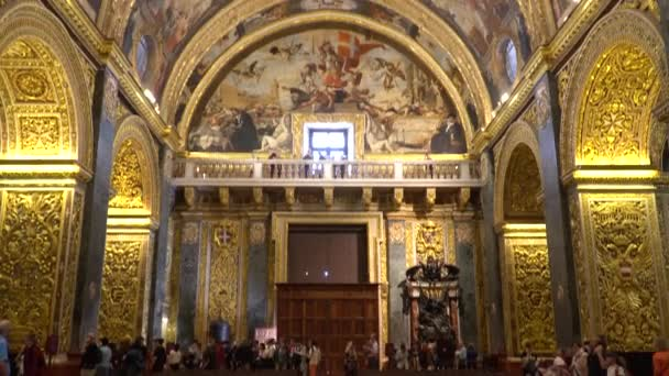 VALLETTA - MALTA, April, 2018: Interior of St Johns Co-Cathedral - Valletta, Malta.
