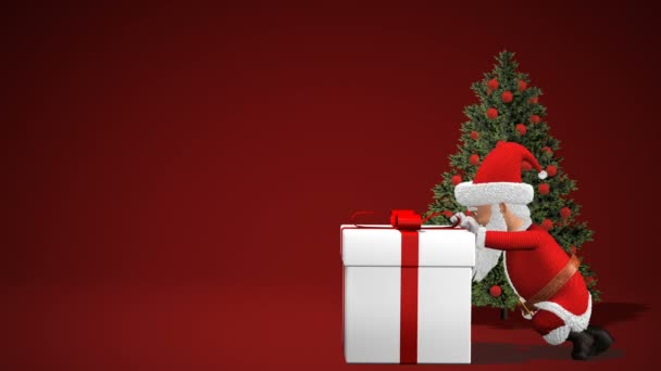 Merry Christmas With Santa 2020 Merry Christmas and Happy New Year 2020 animation. Santa Claus