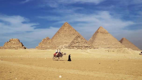 Cairo, Egypt - January 2020: The Great Pyramids In Giza Valley, Cairo, Egypt