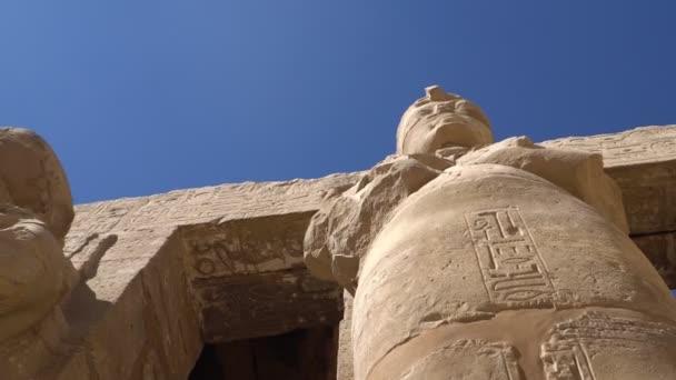 Karnak chrám Luxor, Egypt. Karnak Temple Complex, běžně známé jako Karnaku, zahrnuje rozsáhlé mix zkažená chrámů, kaplí, stožárů a dalších budov v Egyptě.