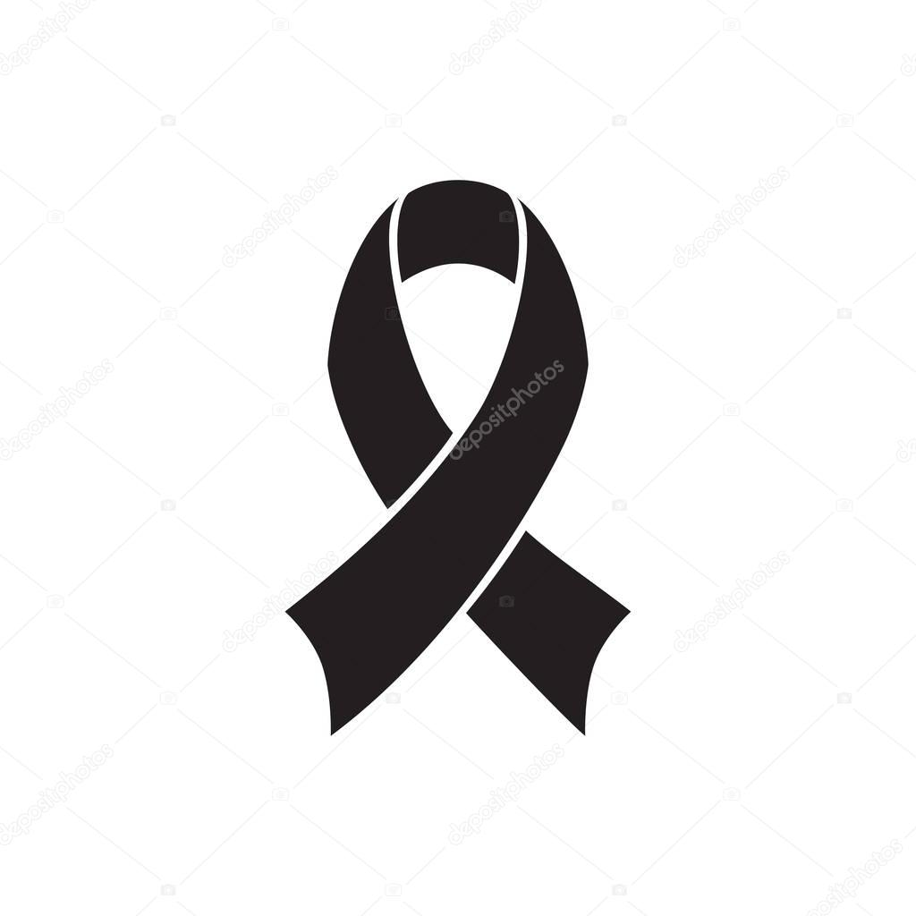black and white ribbon
