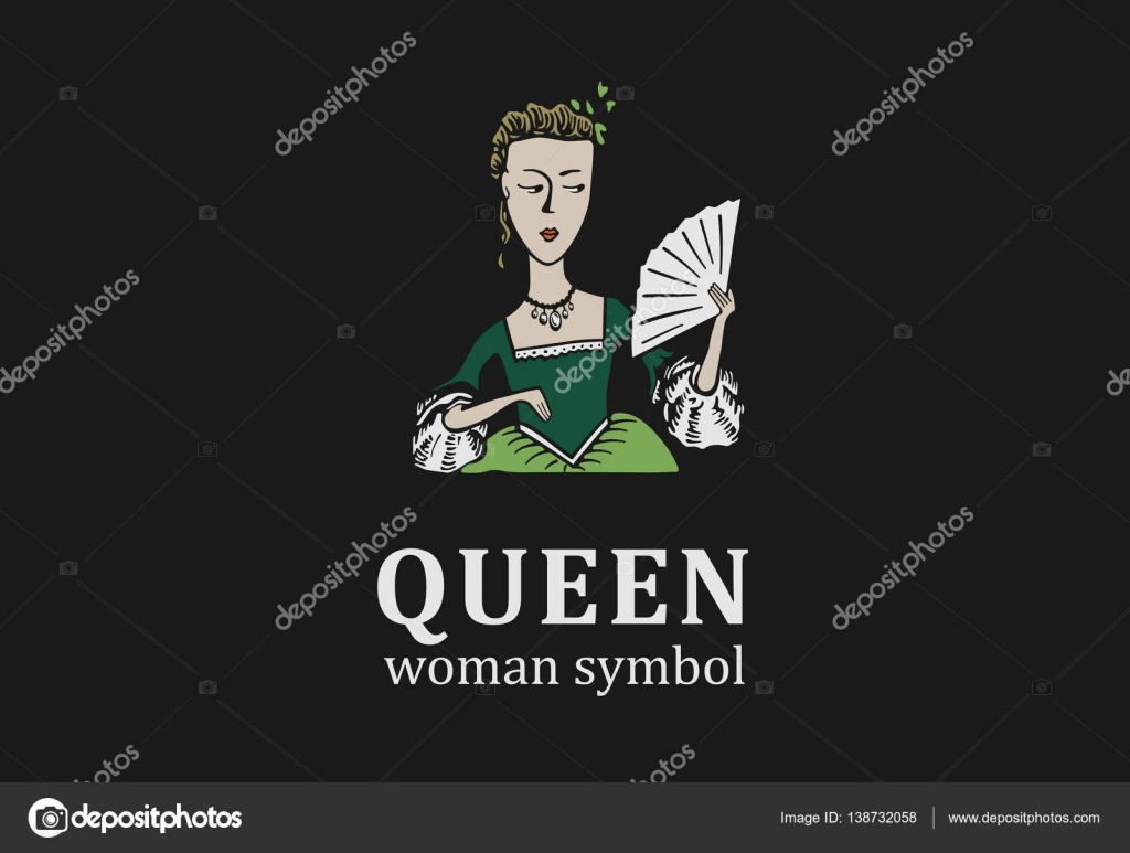 Young queen symbol for salon showroom or parlor stock vector a symbol of a young queen with a fan vector by fankin a buycottarizona Image collections