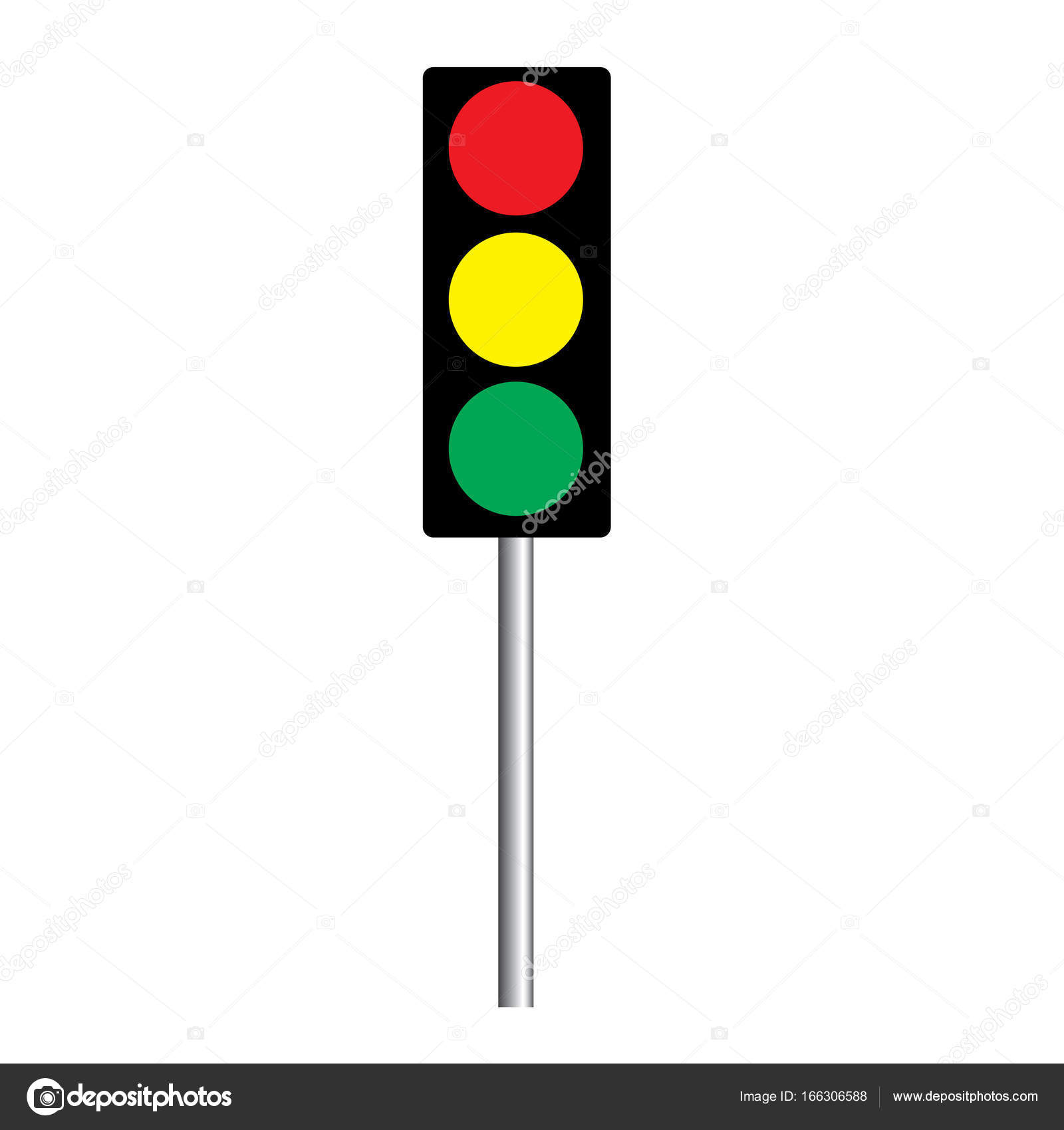 Traffic light interface icons. Red, yellow and green (go, stop and ... for Traffic Light Yellow Icon  28cpg