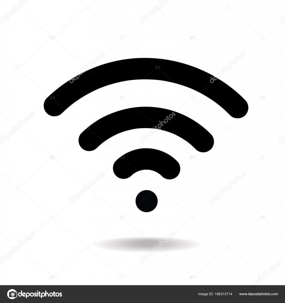 wifi icon vector wireless internet sign isolated on white rh depositphotos com wifi icon vector ai wifi icon vector free