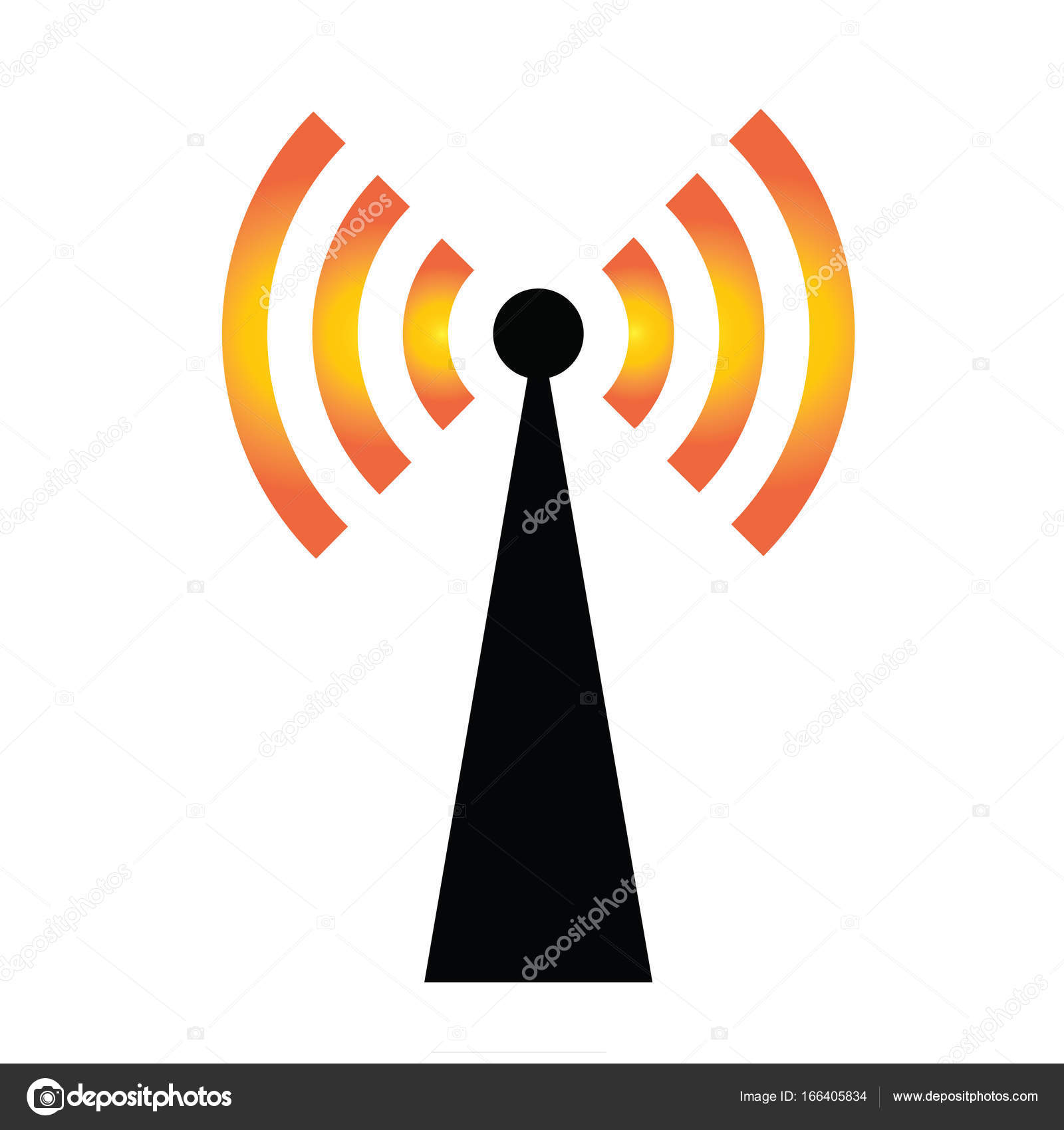 Wifi Icon Vector Antenna Wireless Internet Sign Isolated White