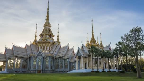 4k. Időközű Landmark, Nakhon ratchasima templom Wat nem Kum, ban Amphoe Sikhiu, naplementekor Thaiföld