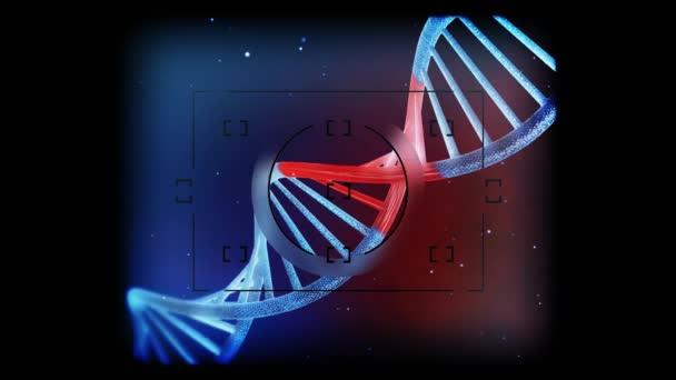 Vysoce detailní geneticky upraveny Dna pod mikroskopem