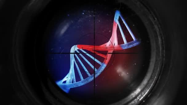 Vysoce detailní geneticky modifikované Dna pod mikroskop objektiv