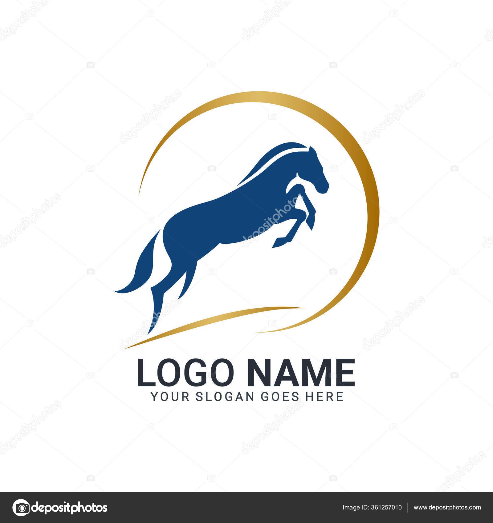 Modern Gold Abstract Horse Logo Design Animal Logo Design Editable Stock Vector C Nietz Studio 361257010