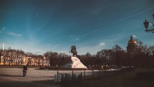 Saint-Petersburg. Jezdecká socha Petra Velikého
