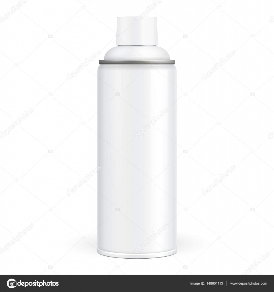 White Paint Aerosol Spray Metal 3d Bottle Can Graffiti
