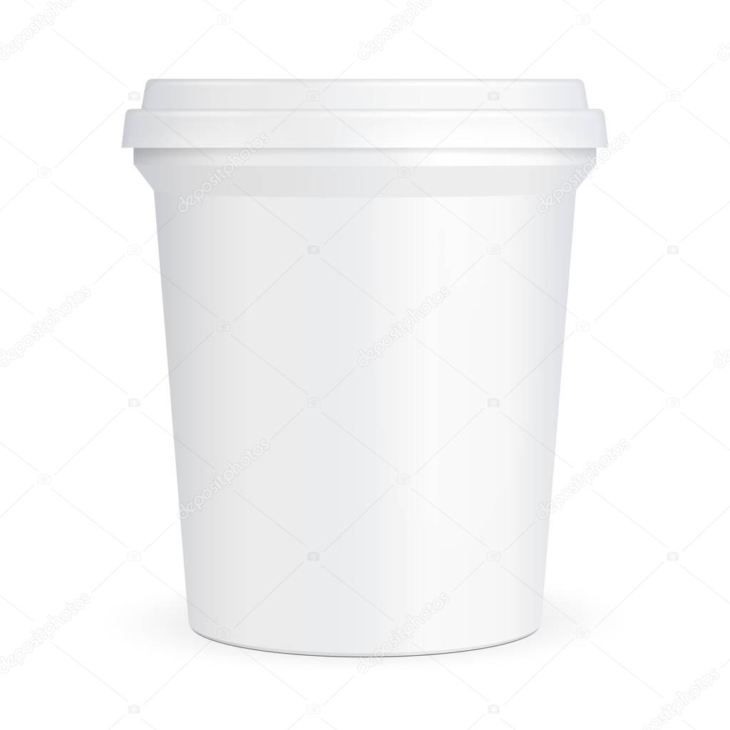 alimentaire blanc seau contenant de cuve en plastique pour