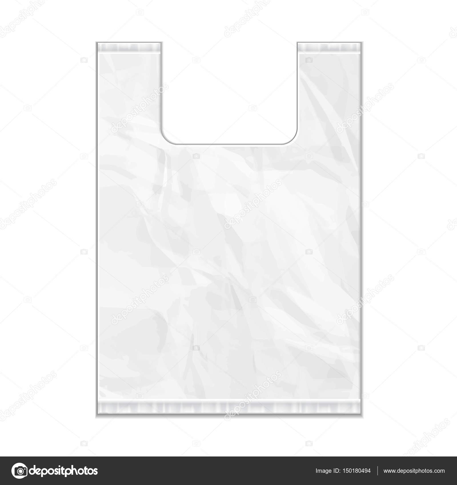 bolsa desechable de plstico paquete plantilla de escala de grises sobre fondo blanco aislado se burlan de plantilla listos para su diseo