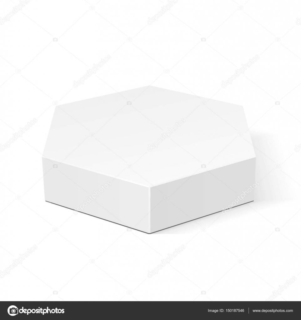 Blanco cartón hexagonal caja de embalaje para alimentos, regalos u ...