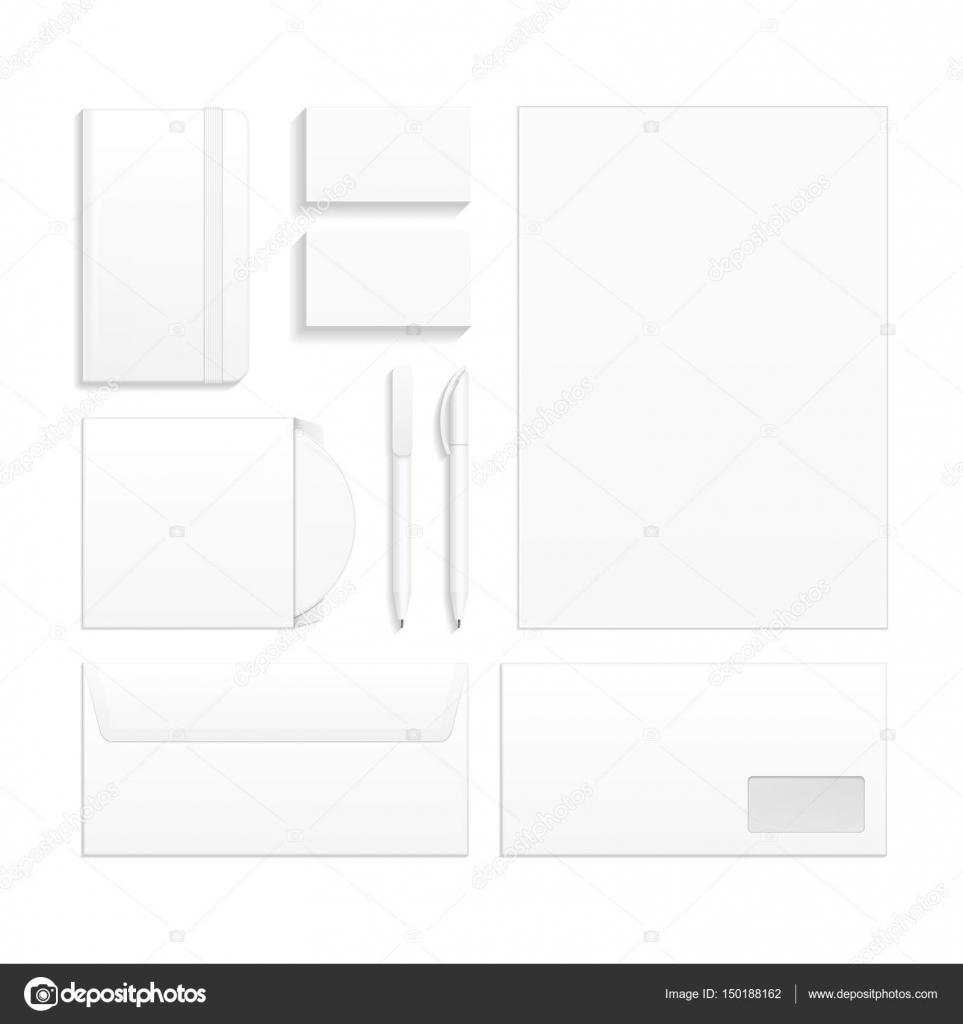 set of corporate identity and branding stationery templates