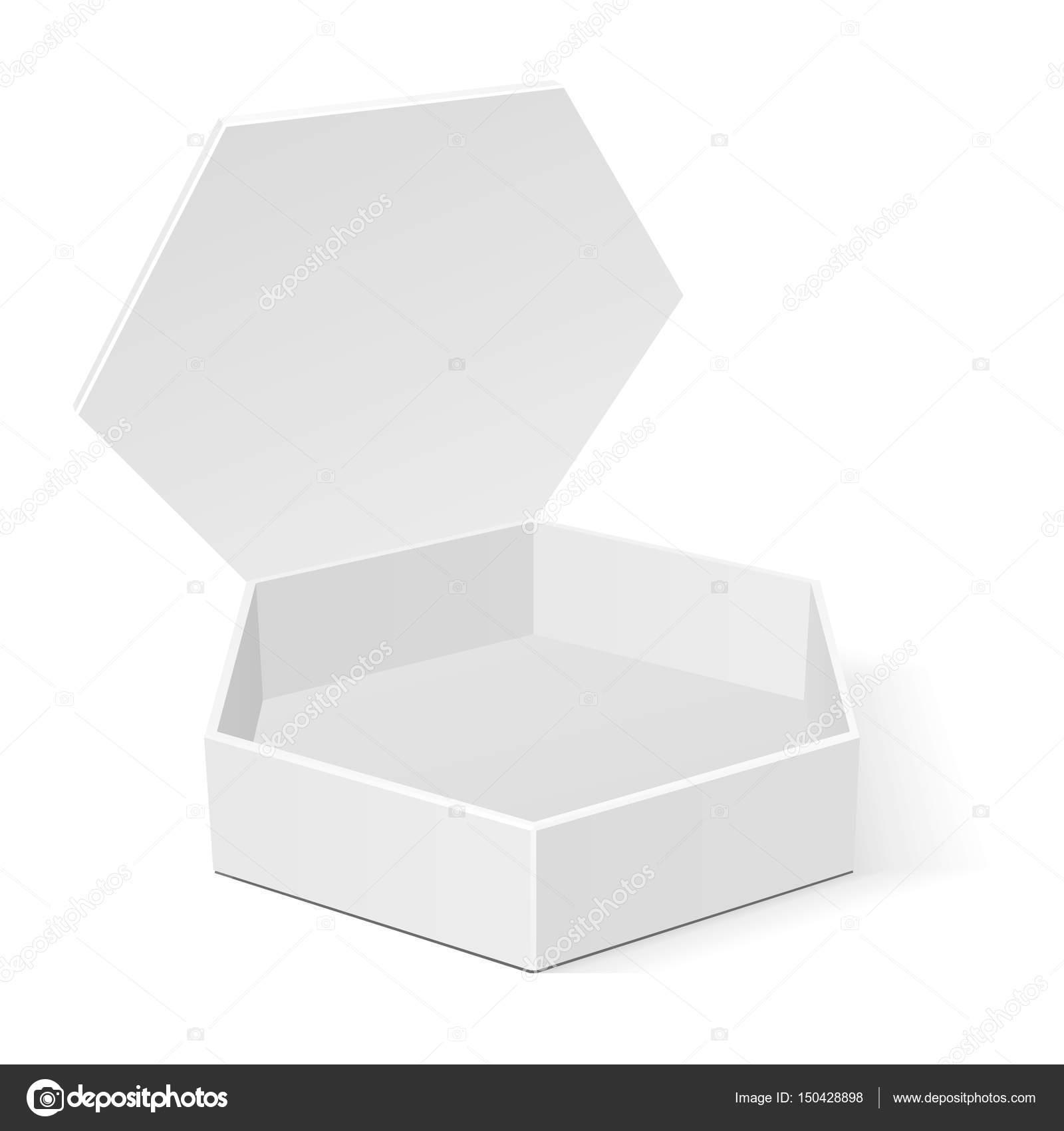 blanc six pans creux en carton bo te d emballage d. Black Bedroom Furniture Sets. Home Design Ideas