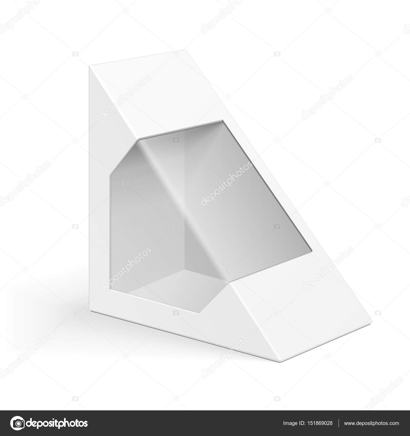 triangle packaging template - triangle box white cardboard triangle carry box bag