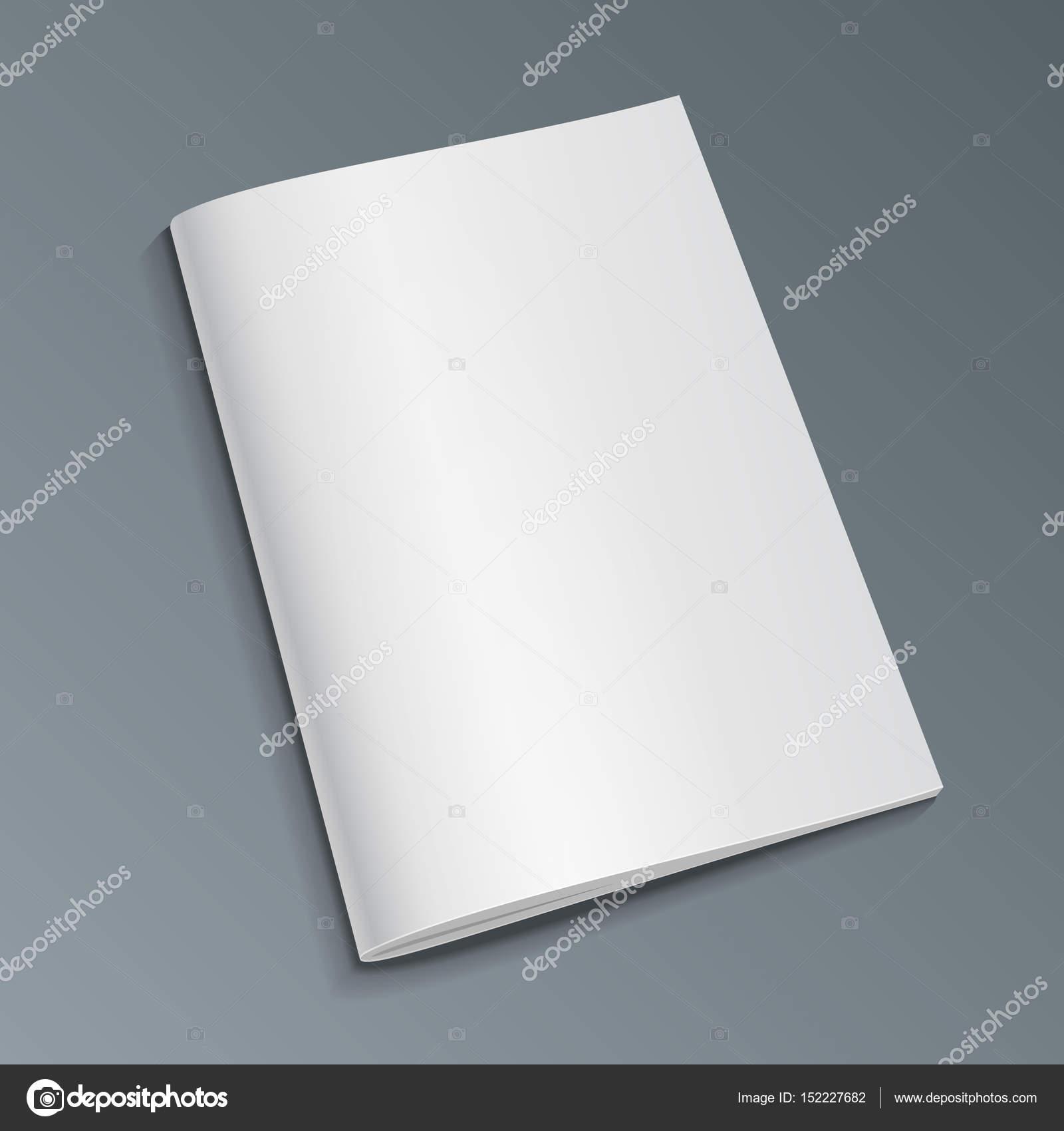 Blank Abdeckung Des Magazin, Buch, Broschüre, Prospekt. Illustration ...