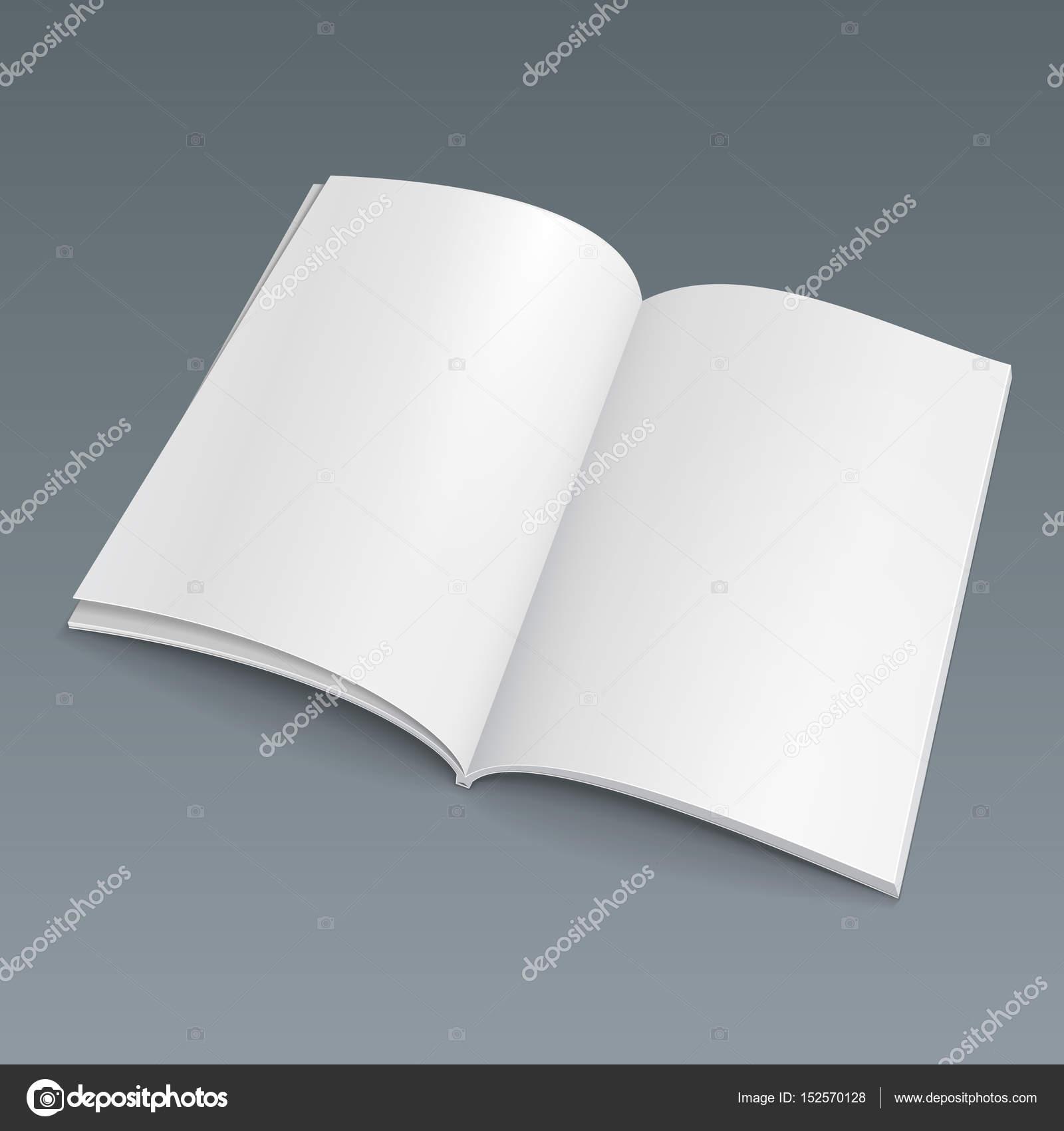 Blank geöffnet Buch, Broschüre, Zeitschrift, Broschüre. Abbildung ...