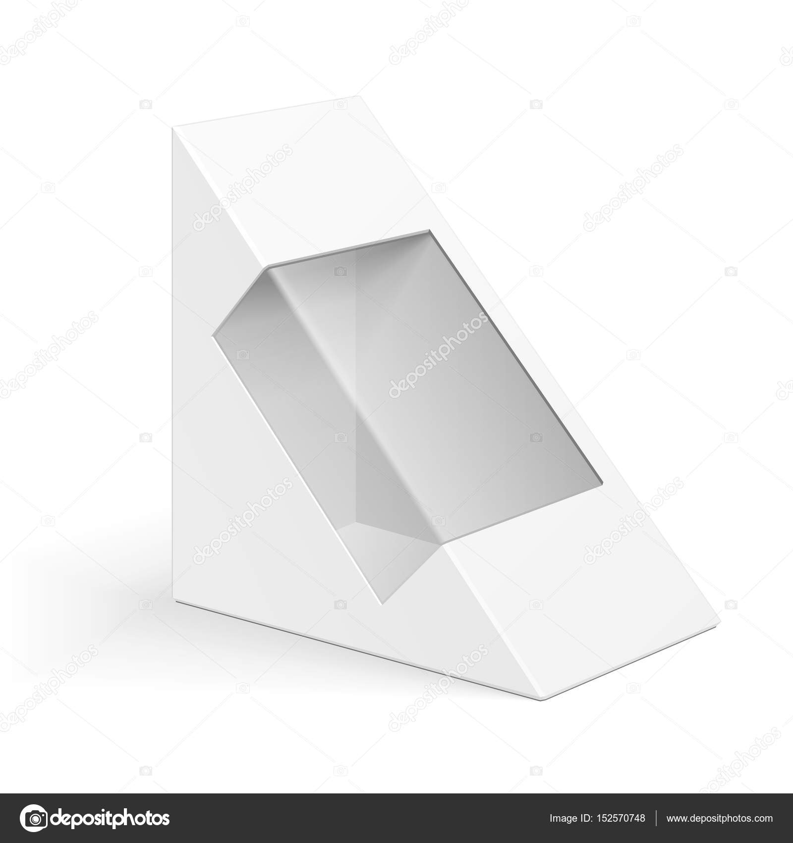 white cardboard triangle box packaging for sandwich food gift or