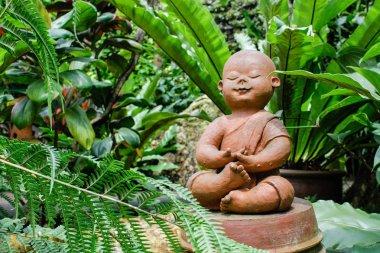 """Картина, постер, плакат, фотообои """"статуя будды тай лес цветы водопады"""", артикул 135002092"""