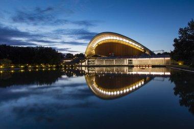 Haus der Kulturen der Welt (House of World Cultures), Berlin, Germany at night, 9th August 2017