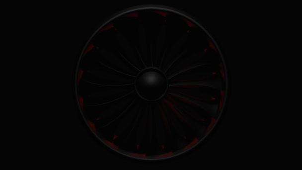 3D vykreslování Jet Engine, detailní pohled Jet Engine Blades
