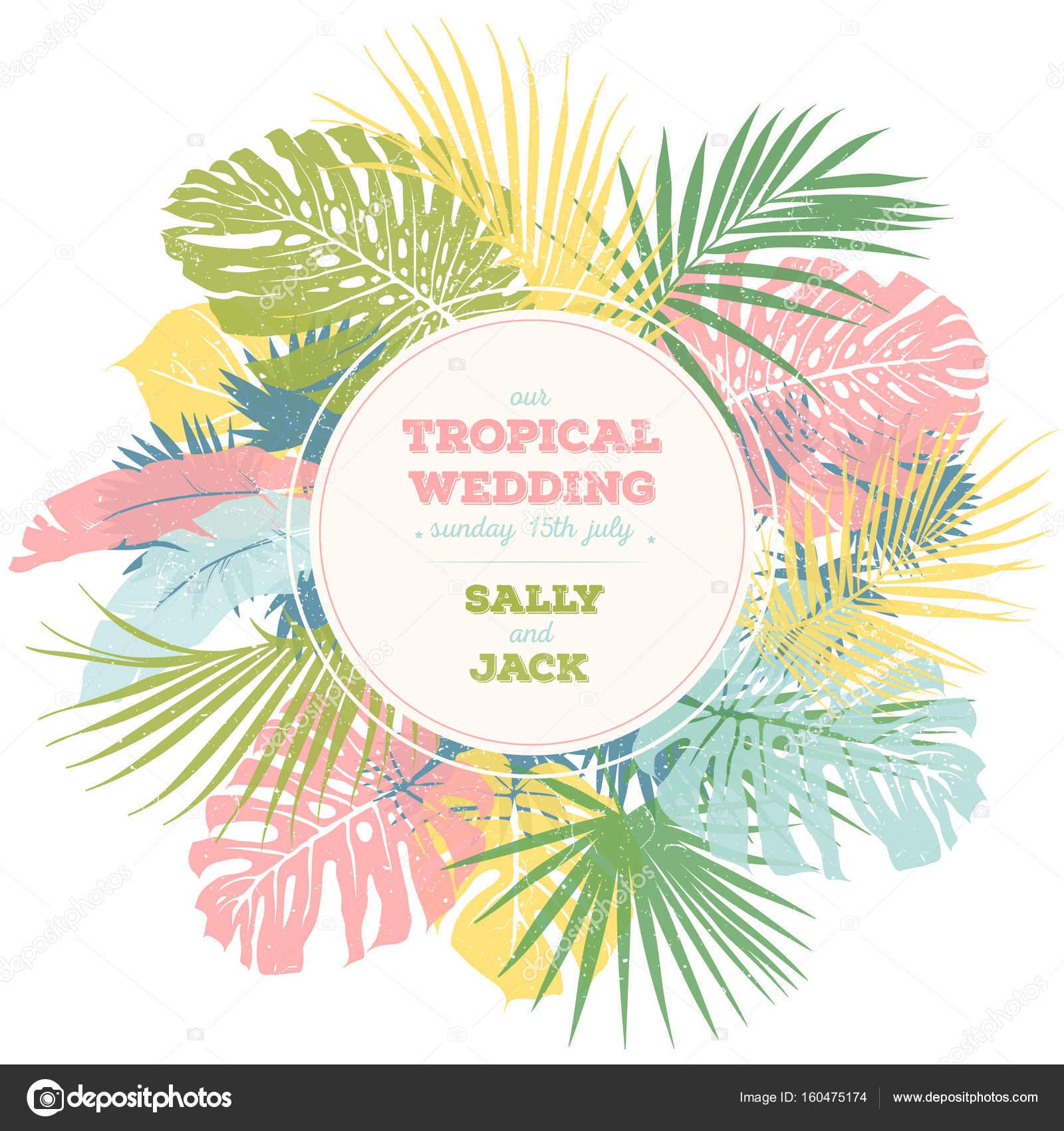 Tropical wedding card — Stock Vector © Diana Prya va